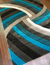 Rugs Approx 8x6ft 180x240CM Carved Top Quality Grey/Teal New Designs XXLARGE